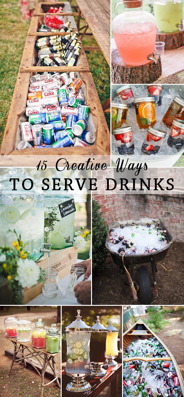 15 creative ways to serve drinks for