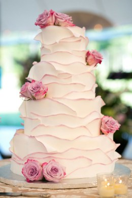 Wedding Trend  20 Fabulous Wedding Cakes with Floral for 2015 2016     sweet and elegant wedding cakes with pink roses decorated on