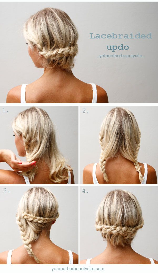 diy lace braided updo wedding hairstyles for long hairs