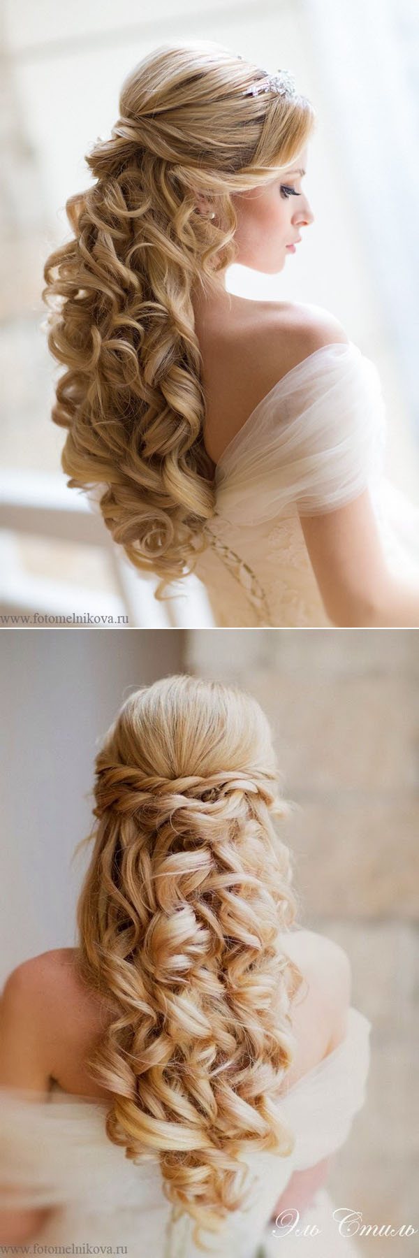 20 awesome half up half down wedding hairstyle ideas