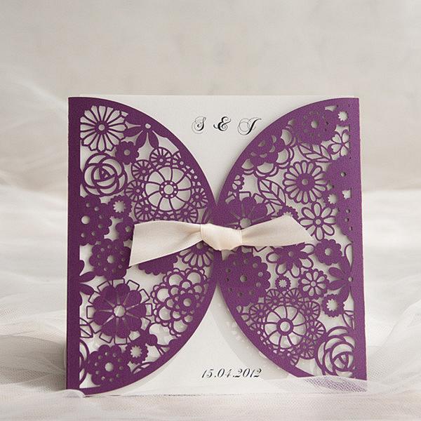 Eight Most Por Plum Purple Invitations By Elegant