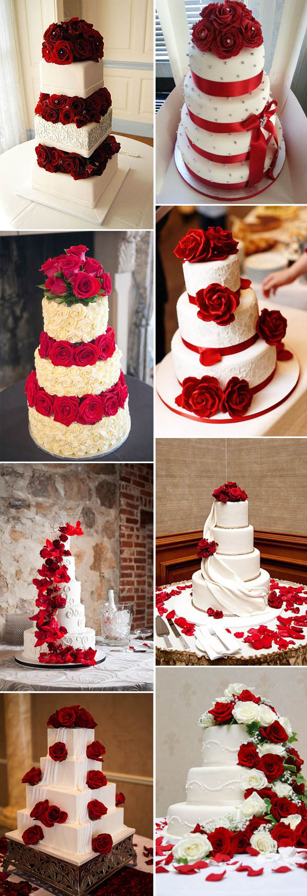 40 Inspirational Classic Red and White Wedding Ideas     classic red and white wedding cakes