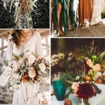 Moody Boho Chic Wedding Ideas With Matching Floral Wedding Invites Elegantweddinginvites Com Blog