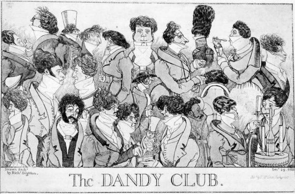 Richard Dighton, The Dandy Club, 1818