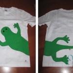 Magliette dipinte a mano: la lucertola