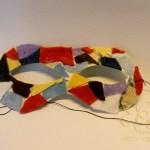 Maschera di Arlecchino come fare una maschera riciclando