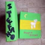 La cartelletta per i disegni DIY riciclata