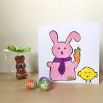 Biglietto di Pasqua scaricabile con i sabbiarelli
