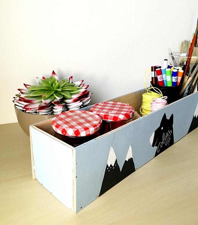cassetta legno nordic style