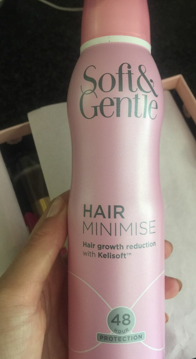 soft &gentle hair minimiser  anti perspirant glossybox 2016