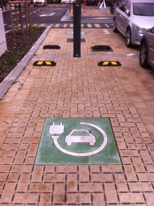 Parkeerplek laadstation elektrische auto