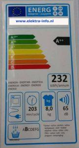 verbruik warmtepompdroger