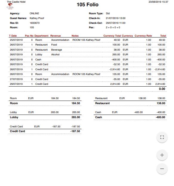 otel programı folyo, Hotel management software Folio