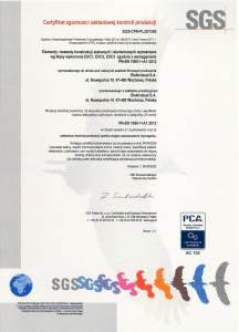 Certyfikat zakładowej kontroli produkcji