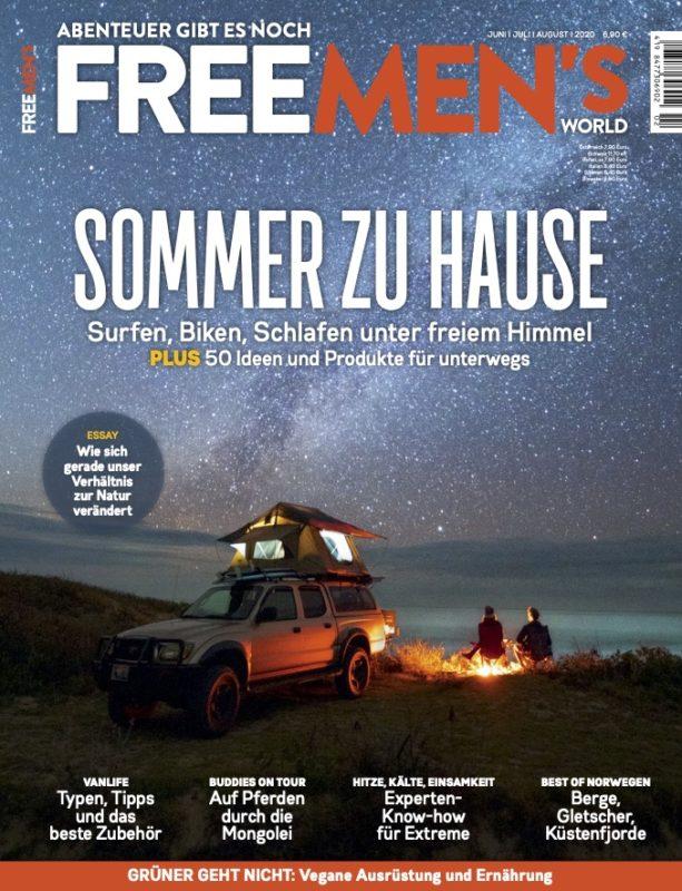 FMW 02 2020 Cover - Elektrofrosch bei FREE MEN'S WORLD