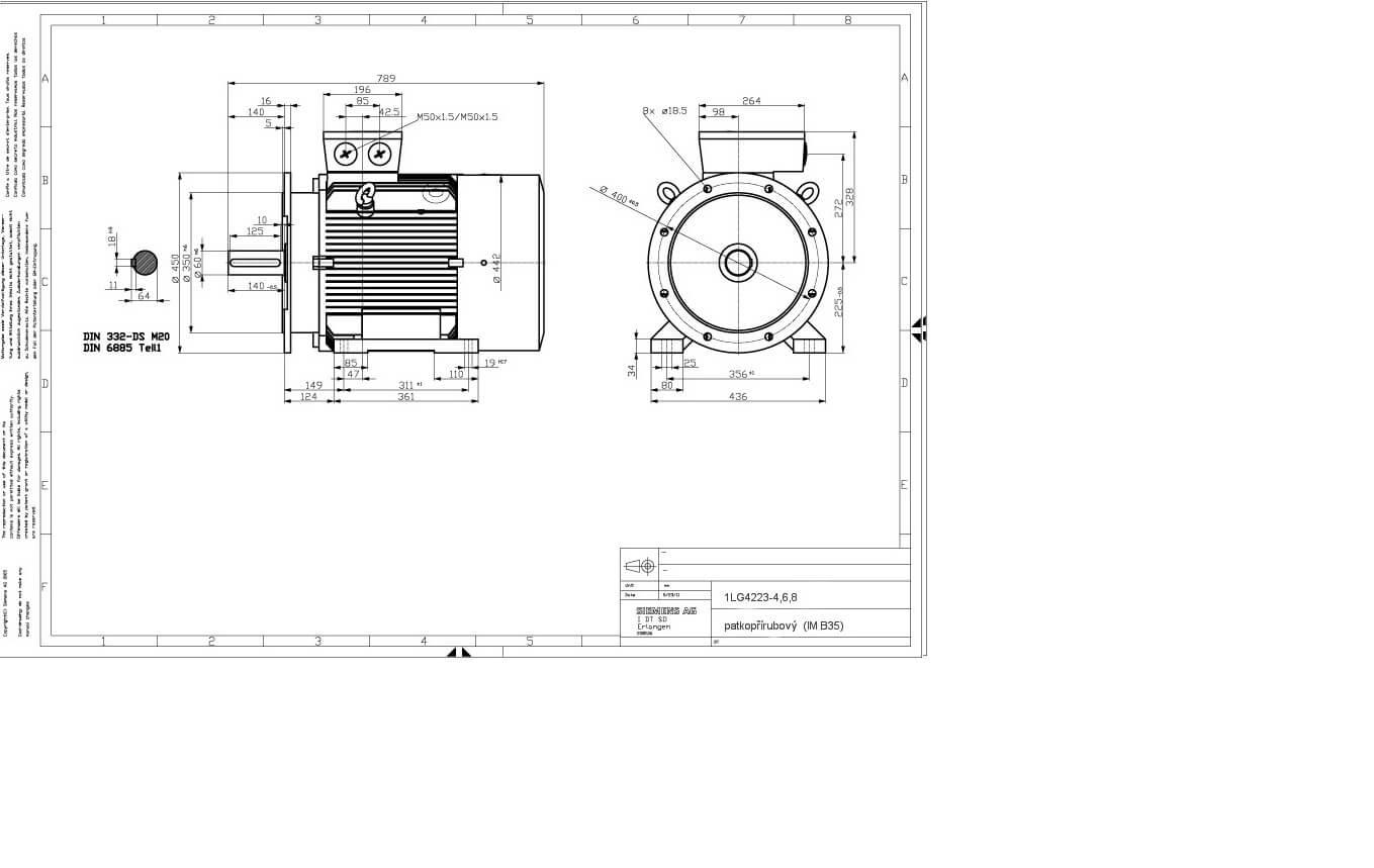 Elektromotor Siemens 1lg 6aa 30kw 978ot