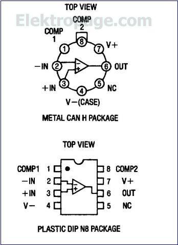 Lm308 Ic Pinout Diagram
