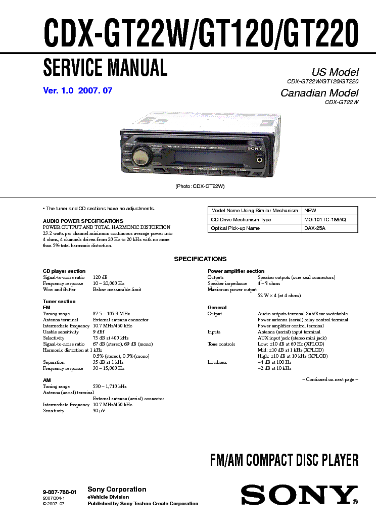 sony_cdx gt22w_gt120_gt220.pdf_1?resize=665%2C941&ssl=1 sony car stereo wiring colors wiring diagram,Sony Radio Wiring Color Codes