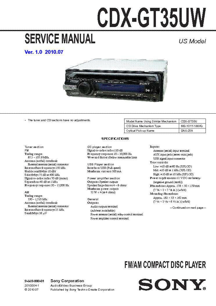 sony_cdx gt35uw_sm.pdf_1?resize\\\\\\=665%2C941\\\\\\&ssl\\\\\\=1 100 [ sony xplod wiring harness diagram ] car stereo wire color sony cdx-gt620u wiring diagram at gsmportal.co