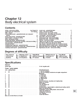 OPEL KADETT ELECTRICAL MANUAL 19861990 Service Manual