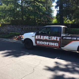 Element roofing pleasanton truck on location