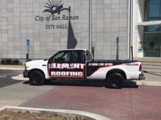 element roofing truck in san ramon