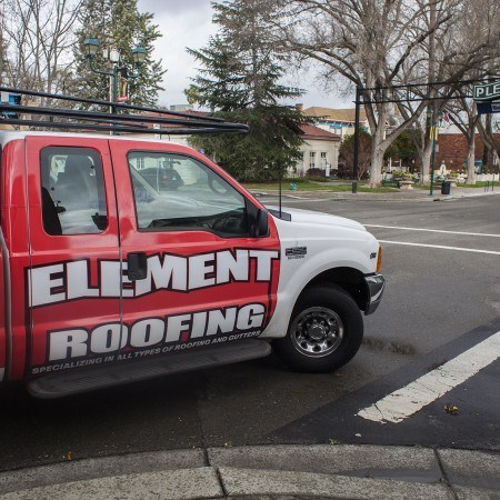 Element roofing truck