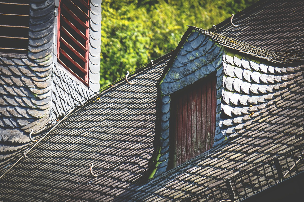 image of roof with shingles
