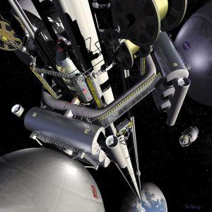 Weltraumlift (Bild: NASA, gemeinfrei)