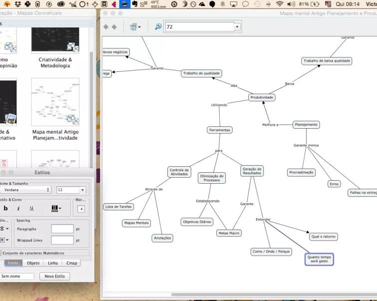 Agência Elemento Mapa Mental de Conteúdo Feito com Cmap Tools