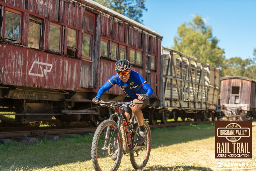 Competitors raced to beat the 6hr time of the Brisbane Valley Rail Trail