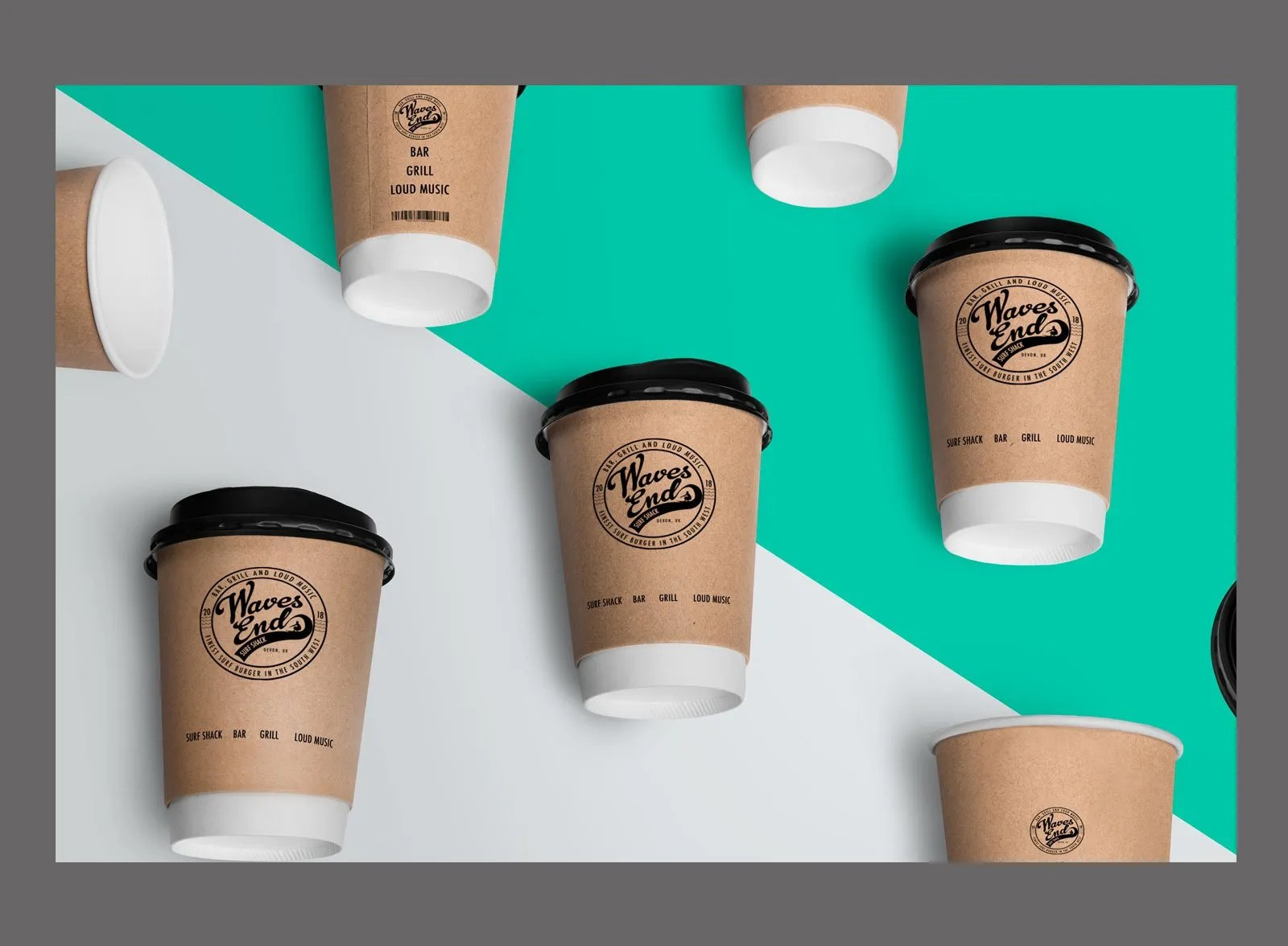 Waves End Branded Coffee Cup | Elements Brand Management