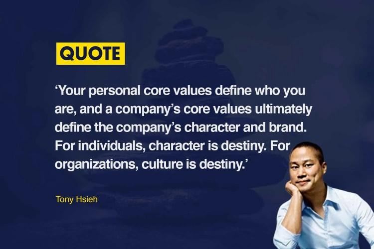 Tony Hsieh brand values quote