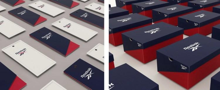 Reebok rebrand packaging
