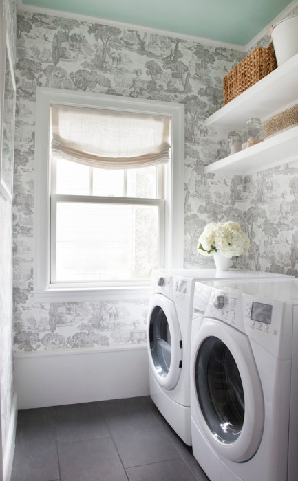 Ceiling paint color for laundry room