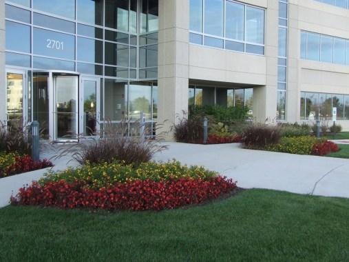 office park building landscape