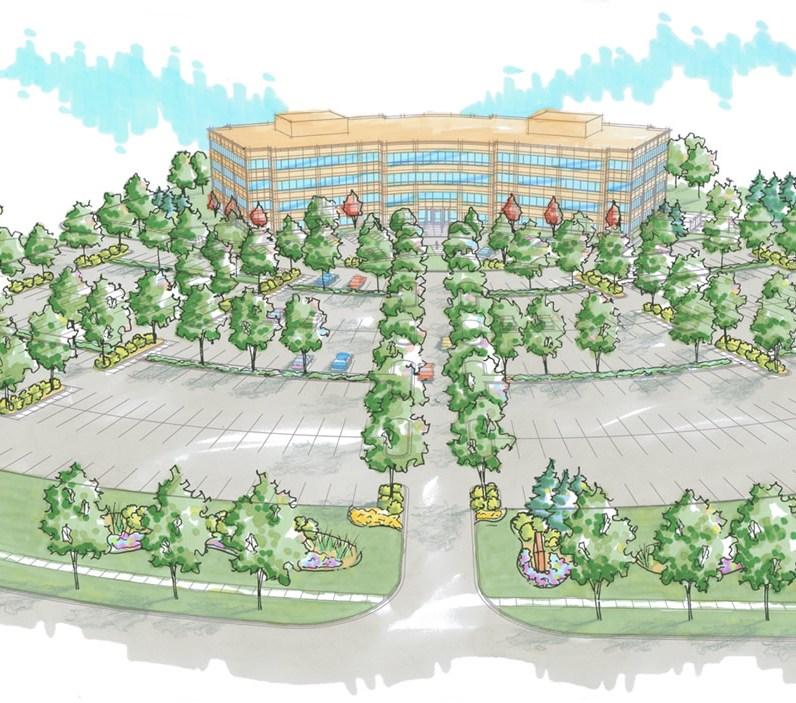 office park landscape plan