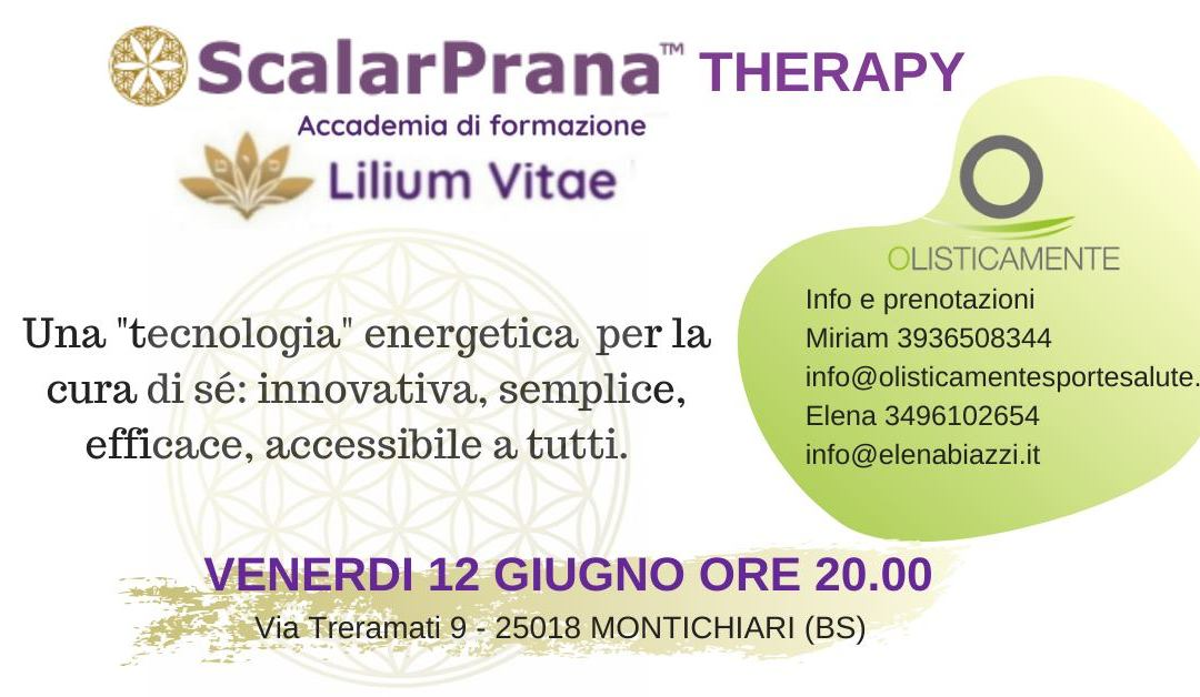 Conferenza Scalarprana therapy