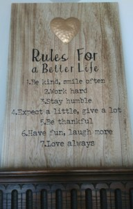 Rules for a better life