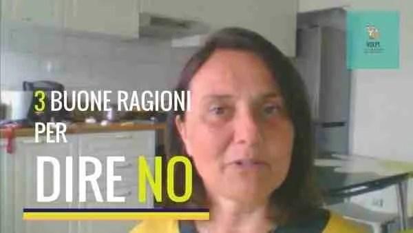 Tre buone ragioni per dire no