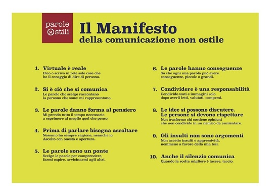 Manifesto della comunicazione non ostile