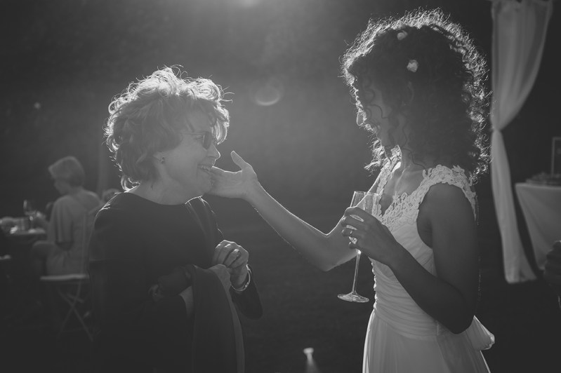 Wedding photography - bride and mother