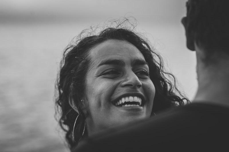 Greece Destination Engagement - Corfu - portrait, girl laughing