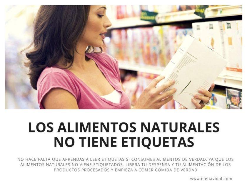 LOS ALIMENTOS NATURALES NO TIENE ETIQUETAS