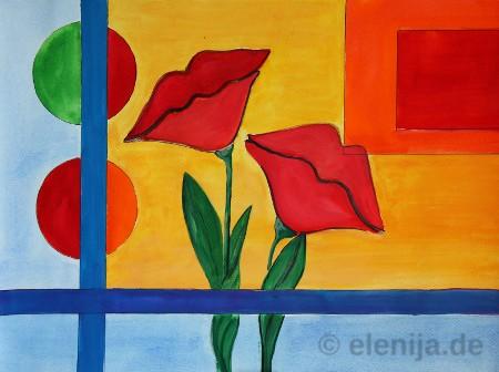 Lippen-Blumen, von Elenija