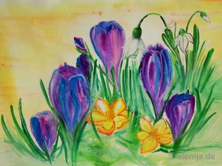 Frühlingsbeginn, von Elenija