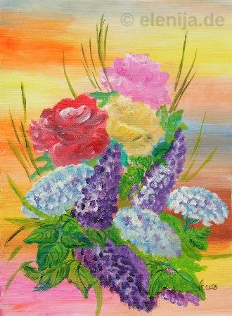 Königlicher Blumenstrauß, von Elenija