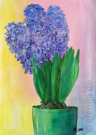 Blaue Hyazinthen, von Elenija