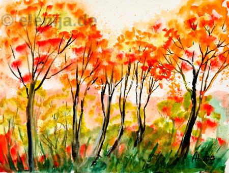 Goldene Blätter, von Elenija