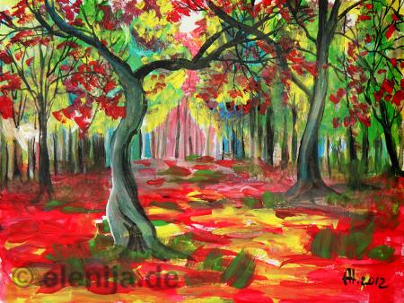 Herbst im Park, von Elenija